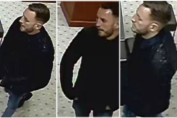 Clearer CCTV images released by police of a man they would like to speak to in connection with a jewellers theft in Staines in September 2015