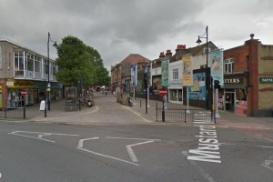 The end of Staines High Street that would be redeveloped